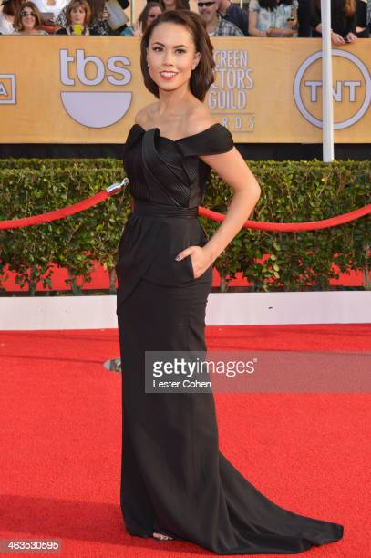 Actress Alex Hudgens attends the 20th Annual Screen Actors Guild Awards at The Shrine Auditorium on January 18 2014 in Los Angeles California