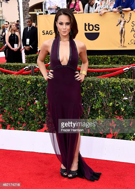 Actress Alex Hudgens attends the 21st Annual Screen Actors Guild Awards at The Shrine Auditorium on January 25 2015 in Los Angeles California