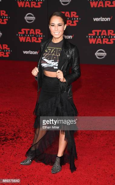 Actress Alex Hudgens attends the premiere of Disney Pictures and Lucasfilm's 'Star Wars The Last Jedi' at The Shrine Auditorium on December 9 2017 in...