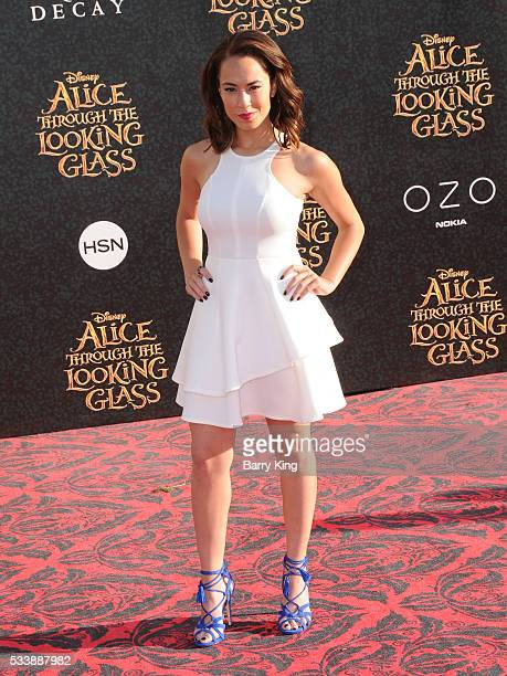 Actress Alex Hudgens attends the premiere of Disney's' 'Alice Through The Looking Glass' at the El Capitan Theatre on May 23 2016 in Hollywood...