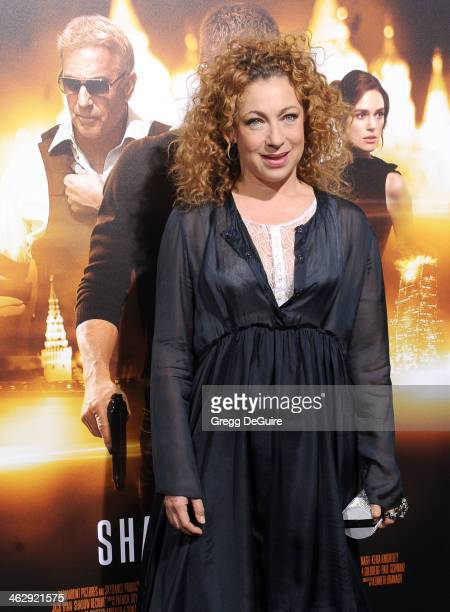 Actress Alex Kingston arrives at the Los Angeles premiere of 'Jack Ryan Shadow Recruit' at TCL Chinese Theatre on January 15 2014 in Hollywood...