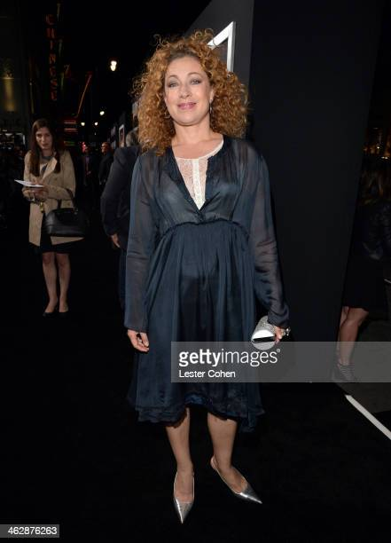 Actress Alex Kingston arrives at the premiere of Paramount Pictures' 'Jack Ryan Shadow Recruit' at TCL Chinese Theatre on January 15 2014 in...