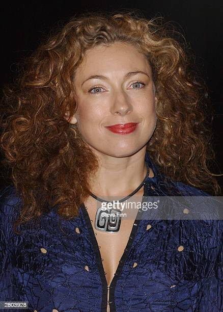 Actress Alex Kingston arrives at the UK premiere of 'Lord of the Rings The Return of the King' at the Odeon Leicester Square on December 11 2003 in...