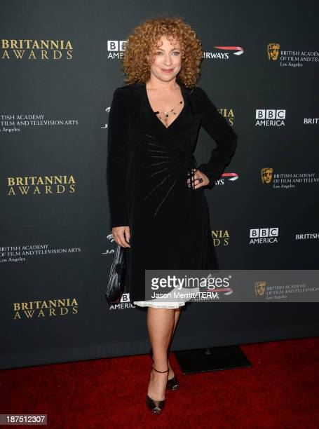 Actress Alex Kingston attends the 2013 BAFTA LA Jaguar Britannia Awards presented by BBC America at The Beverly Hilton Hotel on November 9 2013 in...