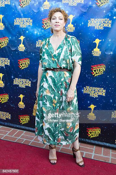 Actress Alex Kingston attends the 42nd Annual Saturn Awards at The Castaway on June 22 2016 in Burbank California