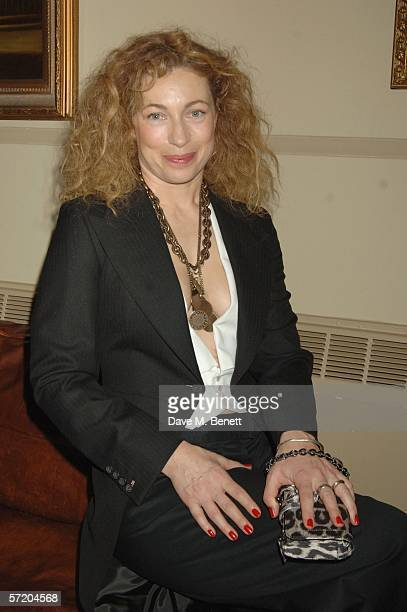 Actress Alex Kingston attends the after show party following the press night of One Flew Over The Cuckoos Nest at Browns St Martin's Lane on March 28...