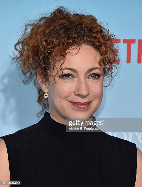 Actress Alex Kingston attends the premiere of Netflix's 'Gilmore Girls A Year In The Life' at the Regency Bruin Theatre on November 18 2016 in Los...