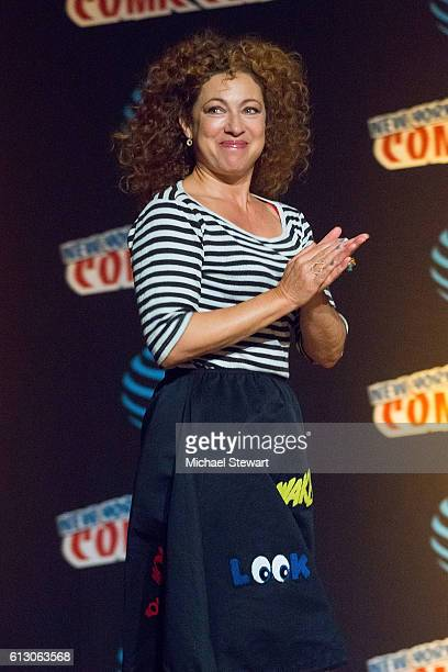 Actress Alex Kingston attends the 'Tales from the TARDIS' panel during 2016 New York Comic Con on October 6 2016 in New York City