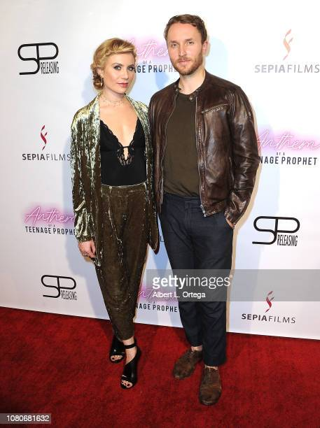 Actress Alex McKenna and writer/actor Josh Close arrive for the premiere of SP Releasing and Sepia Films' 'Anthem Of A Teenage Prophet' held at TCL...
