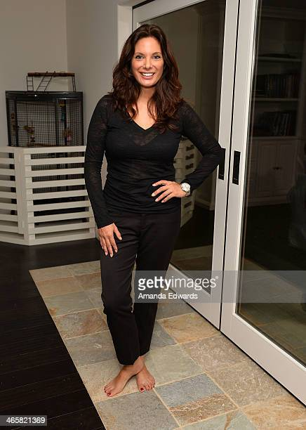 Actress Alex Meneses attends the EcoBungalow celebrity open house at EcoBungalow on January 29 2014 in Los Angeles California