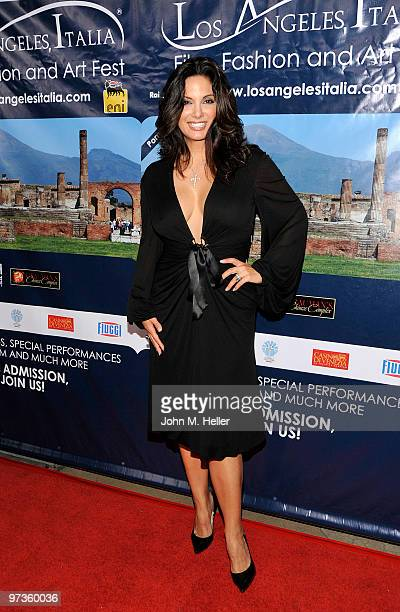 Actress Alex Meneses attends the Los Angeles Italia Film Fashion Art Festival at the Mann Chinese 6 on March 1 2010 in Los Angeles California