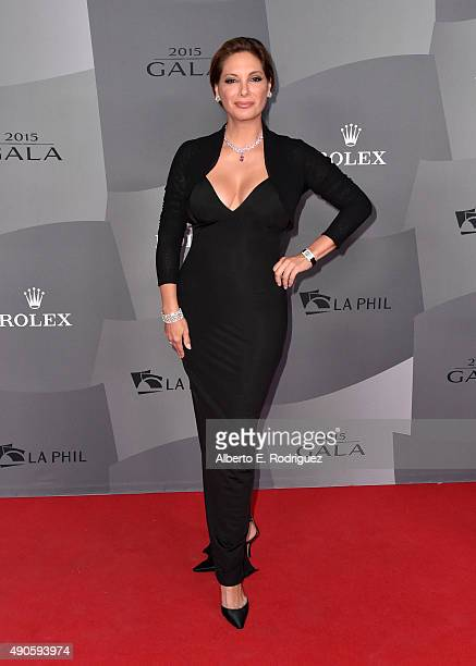 Actress Alex Meneses attends The Los Angeles Philharmonic 2015/2016 Season Opening Night Gala at the Walt Disney Concert Hall on September 29 2015 in...