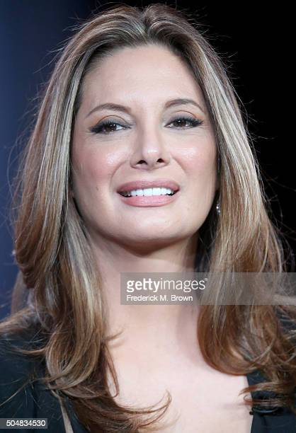 Actress Alex Meneses speaks onstage during the 'Telenovela' panel discussion at the NBCUniversal portion of the 2015 Winter TCA Tour at Langham Hotel...