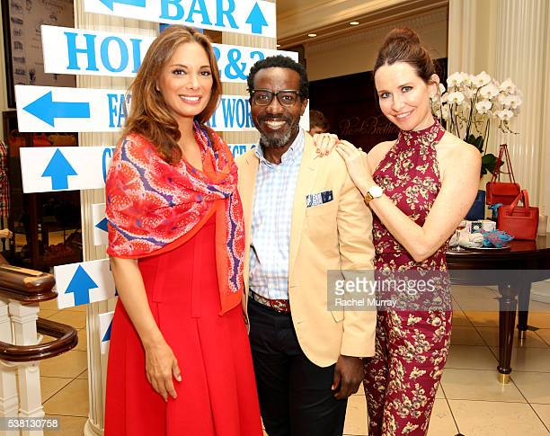 Actress Alex Meneses stylist Tod Hallman and costume designer Janie Bryant attend Brooks Brothers Mini Classic to Benefit St Jude Children's Research...