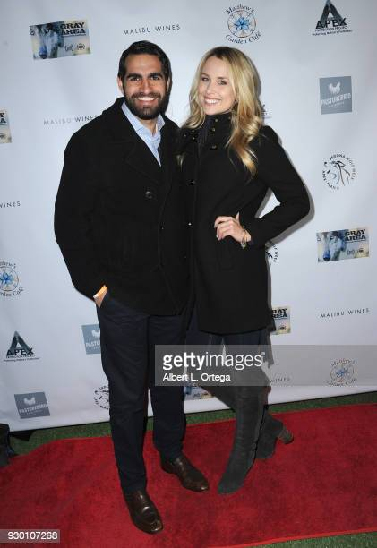 Actress Alex Rose Wiesel and Joseph Youmtoubian attend the Apex Protection Project's Annual 'Wine And Wolves' Fundraiser' held at Malibu Wines on...
