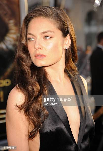 Actress Alexa Davalos arrives to the premiere Clash Of The Titans held at Grauman's Chinese Theatre on March 31 2010 in Los Angeles California
