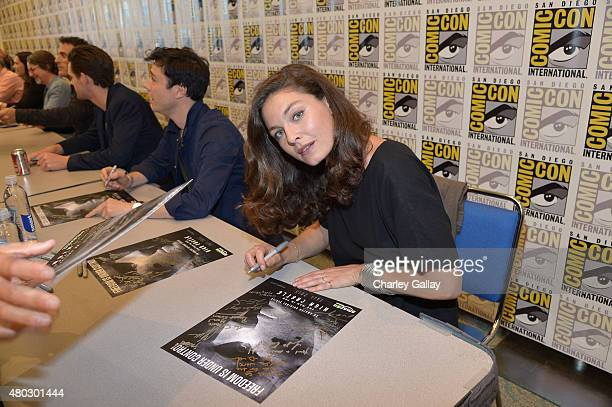 Actress Alexa Davalos attends Amazon Original Series 'The Man In The High Castle' Panel And Signing on July 10 2015 in San Diego California