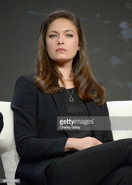 Actress Alexa Davalos attends the Amazon 2016 Summer TCA Press Tour at The Beverly Hilton Hotel on August 7 2016 in Beverly Hills California