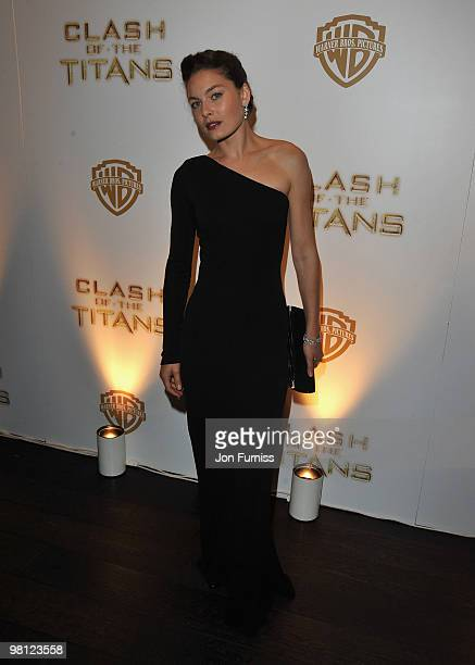 Actress Alexa Davalos attends the 'Clash Of The Titans' world premiere after party at the Aqua restaurant on March 29 2010 in London England