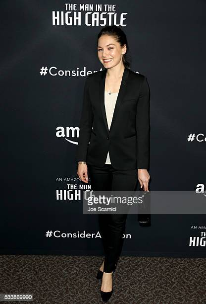 Actress Alexa Davalos attends the Emmy FYC screening of the Amazon Original Series 'The Man In The High Castle' at Directors Guild Of America on May...