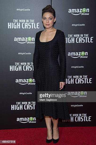 Actress Alexa Davalos attends The Man In The High Castle New York Series Premiere at Alice Tully Hall on November 2 2015 in New York City