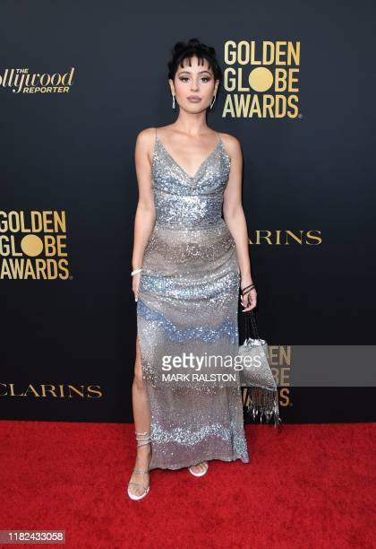 US actress Alexa Demie arrives on the red carpet during the Hollywood Foreign Press Association and The Hollywood Reporter Celebration of the 2020...