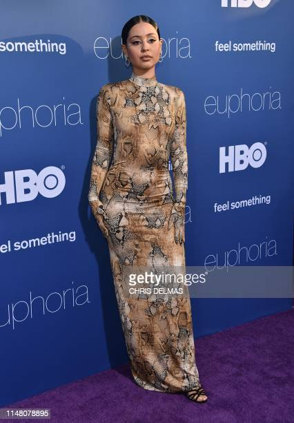 US actress Alexa Demie attends the Los Angeles premiere of the new HBO series Euphoria at the Cinerama Dome Theatre in Hollywood on June 4 2019