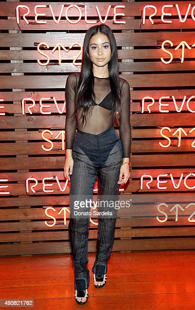 Actress Alexa Demie attends the REVOLVE fashion show benefiting Stand Up To Cancer on October 22 2015 in Los Angeles California