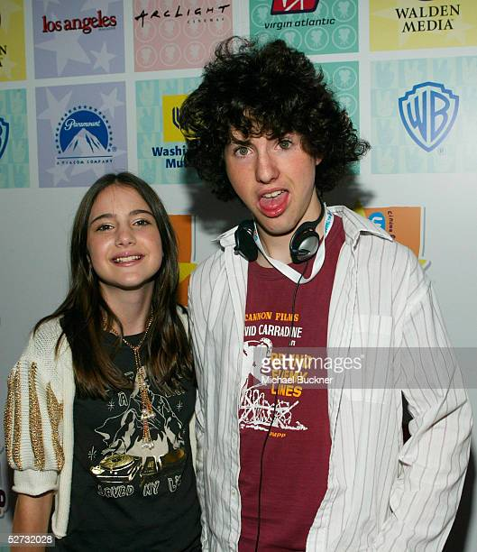 Actress Alexa Nikolas and actor Sean Flynn arrive at the Los Angeles premiere of Warner Brothers' 'Duma' at the Cinerama Dome at ArcLight Theatres on...
