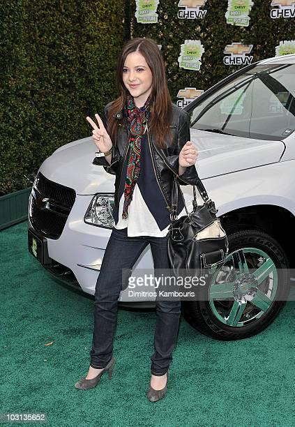Actress Alexa Nikolas arrives at Chevy Rocks The Future at the Buena Vista Lot at The Walt Disney Studios on February 19 2008 in Burbank California