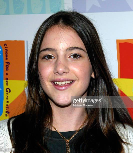 Actress Alexa Nikolas arrives at the Los Angeles premiere of Warner Brothers' 'Duma' at the Cinerama Dome at ArcLight Theatres on April 28 2005 in...