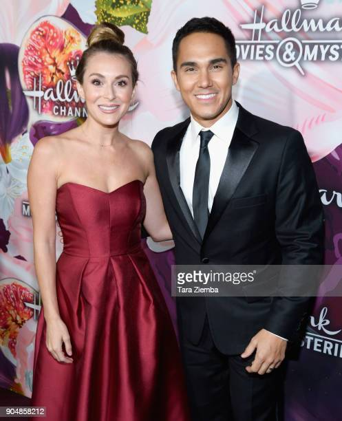 Actress Alexa PenaVega and Carlos PenaVega attend Hallmark Channel and Hallmark Movies and Mysteries Winter 2018 TCA Press Tour at Tournament House...