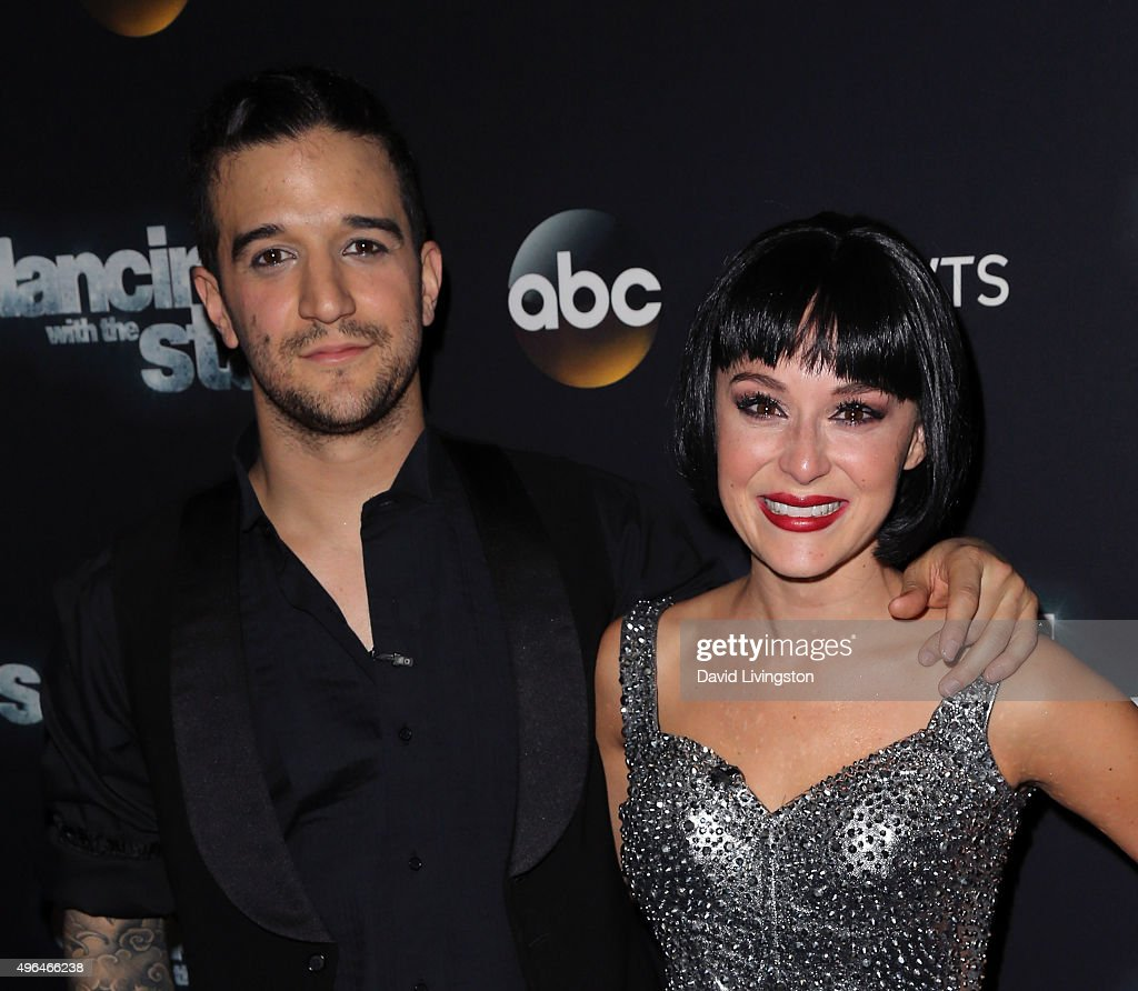 Actress Alexa PenaVega (R) and dancer/TV personality Mark Ballas attend 'Dancing with the Stars' Season 21 at CBS Television City on November 9, 2015 in Los Angeles, California.