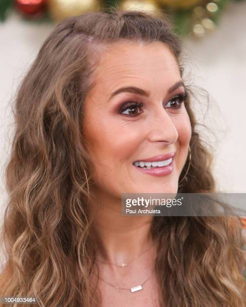 Actress Alexa PenaVega visits Hallmark's 'Home Family' celebrating 'Christmas In July' at Universal Studios Hollywood on July 24 2018 in Universal...