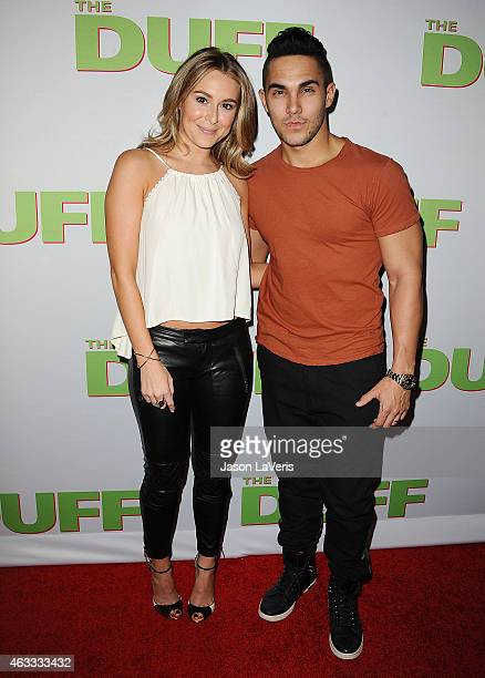 Actress Alexa Vega and actor Carlos Pena Jr attend the premiere of The Duff at TCL Chinese 6 Theatres on February 12 2015 in Hollywood California