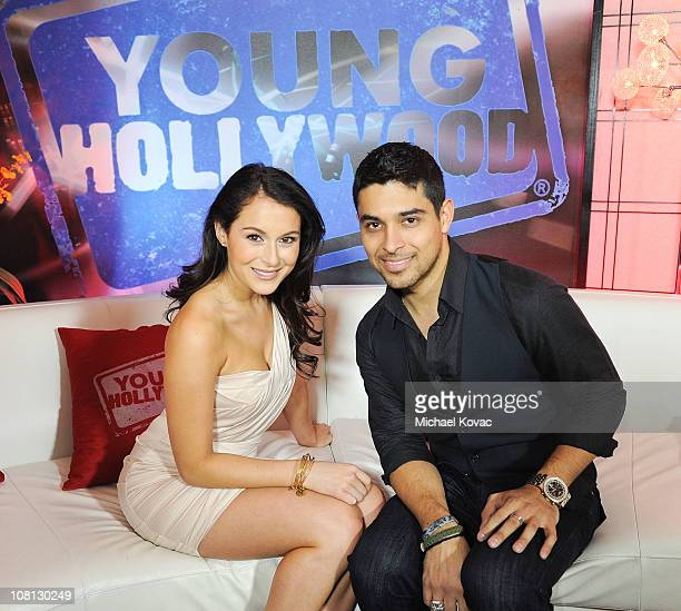 Actress Alexa Vega and actor Wilmer Valderrama visit YoungHollywoodcom at Young Hollywood Studio on January 18 2011 in Los Angeles California