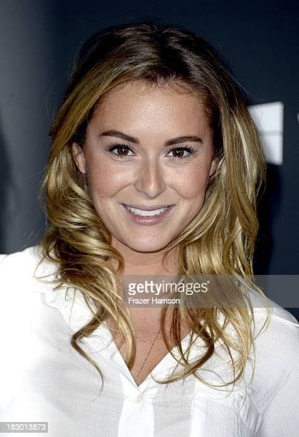 Actress Alexa Vega arrives at the premiere of AMC's The Walking Dead 4th season at Universal CityWalk on October 3 2013 in Universal City California