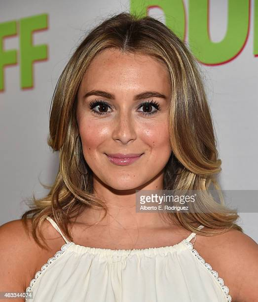 Actress Alexa Vega attends a Fan Screening of CBS Films' 'The Duff' at the TCL Chinese 6 Theatres on February 12 2015 in Hollywood California