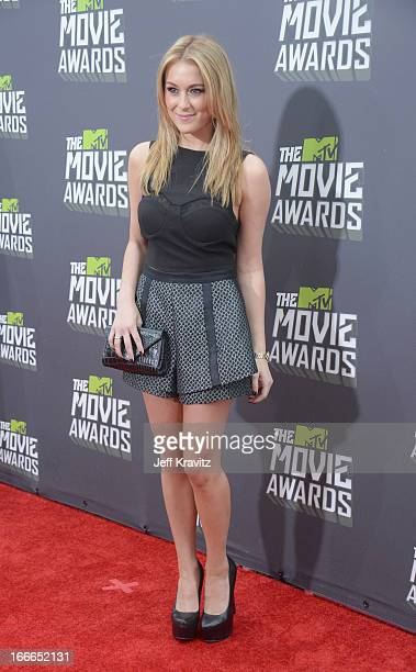 Actress Alexa Vega attends the 2013 MTV Movie Awards at Sony Pictures Studios on April 14 2013 in Culver City California