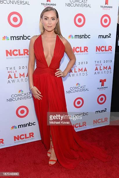 Actress Alexa Vega attends the 2013 NCLR ALMA Awards at Pasadena Civic Auditorium on September 27 2013 in Pasadena California