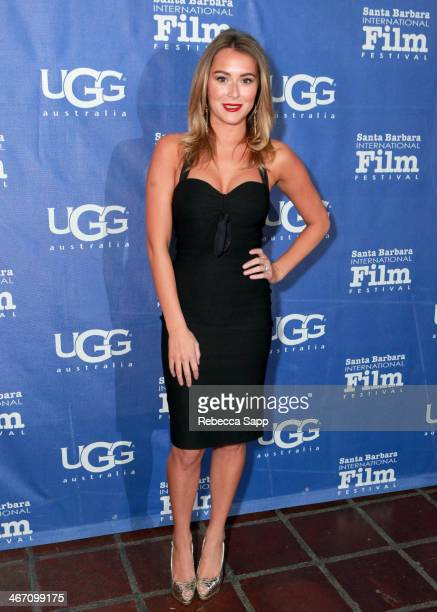 Actress Alexa Vega attends the 29th Santa Barbara International Film Festival Montecito Award to Oprah Winfrey at the Arlington Theatre on February 5...