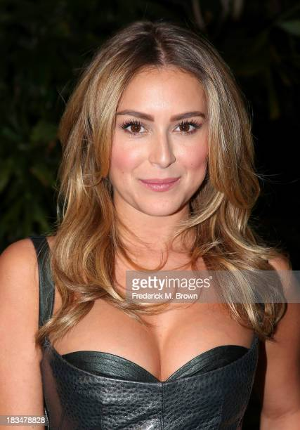 "Actress Alexa Vega attends the Open Road Films' ""Machete Kills"" Press Conference at the Four Seasons Hotel Los Angeles at Beverly Hills on October 6,..."