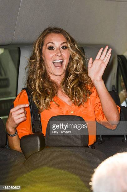 Actress Alexa Vega leaves the Good Morning America taping at the ABC Times Square Studios on September 2 2015 in New York City