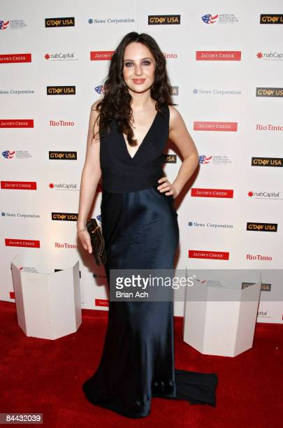 Actress Alexandra Bard arrives at the G'Day Australia Black Tie Gala at the Waldorf Astoria Hotel on January 23 in New York City