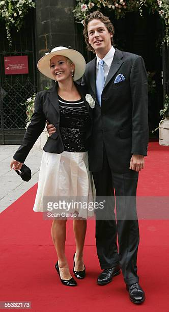 Actress Alexandra Bechtel and Alexander Lassen arrive at the church wedding of Verona and Franjo Pooth at the Stephansdom Catherdral September 10...