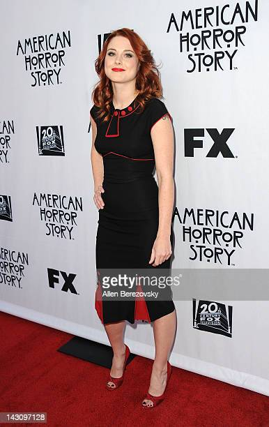 Actress Alexandra Breckenridge arrives at a special screening of American Horror Story presented by the Academy of Television Arts Sciences at...