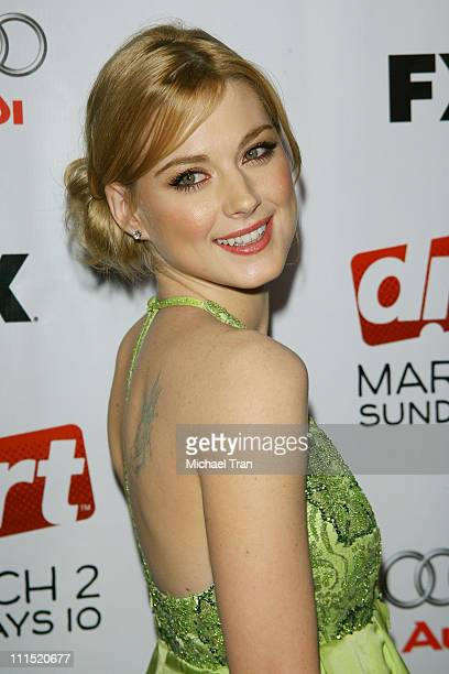 Actress Alexandra Breckenridge arrives at the season two premiere screening of the F/X Network show 'DIRT' held at Arclight Cinemas on February 28...
