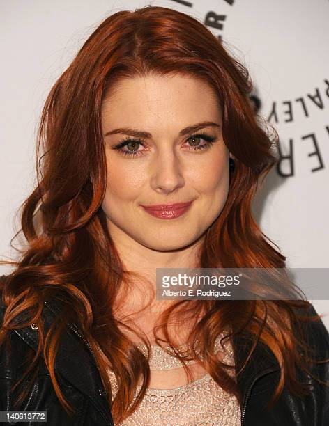 Actress Alexandra Breckenridge arrives to The Paley Center for Media's PaleyFest 2012 honoring 'American Horror Story' at Saban Theatre on March 2...