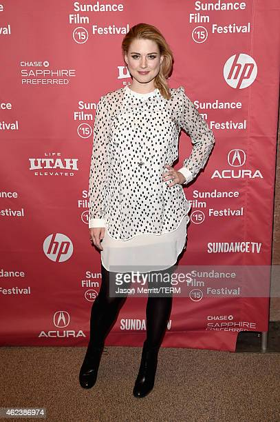 Actress Alexandra Breckenridge attends the 'Zipper' premiere during the 2015 Sundance Film Festival on January 27 2015 in Park City Utah
