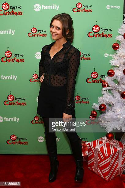 Actress Alexandra Chando attends the 2011 ABC Family 25 Days of Christmas Winter Wonderland event at Rockefeller Center on December 4 2011 in New...